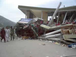 Total destruction in Balakot