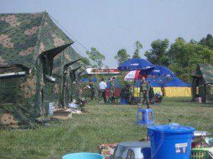CMAT team members at camp in Sichuan, China.
