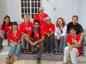 CMAT Team 3 in Sukkur. L-R: Huma Ali, Rita Jacques, Robin Welsford, Zohair Kaderbhai, Mark Wheeler, Samina Ali, Tricia Mackay, Michael Parker, Beverly Parker.