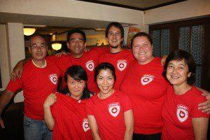 Our fantastic Japanese in-country volunteers!!! — L-R Rear: Yasushi Sato, Motoaki Ishii, Sosha Smith, Valerie Rzepka, L-R Front: Umi-San, Kana Kobori, and Seiko Watanabe.