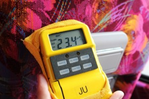 CMAT has 2 radiation detectors to monitor not only radiation exposure, but also overall exposure during the trip. Low levels were observed in Tokyo, but increased as the team travelled further north.
