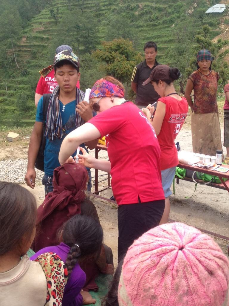 CMAT Team members have been trekking to remote mountaintop villages to assess and treat patients who would otherwise not receive medical attention.